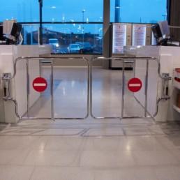 Alarmed Mechanical checkout gates