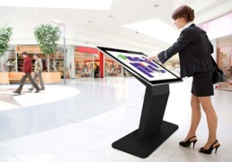 pcap freestanding touch screen kiosk table dual os windows android 02