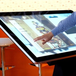 pcap freestanding touch screen kiosk table dual os windows android 09