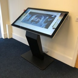 pcap freestanding touch screen kiosk table dual os windows android 11