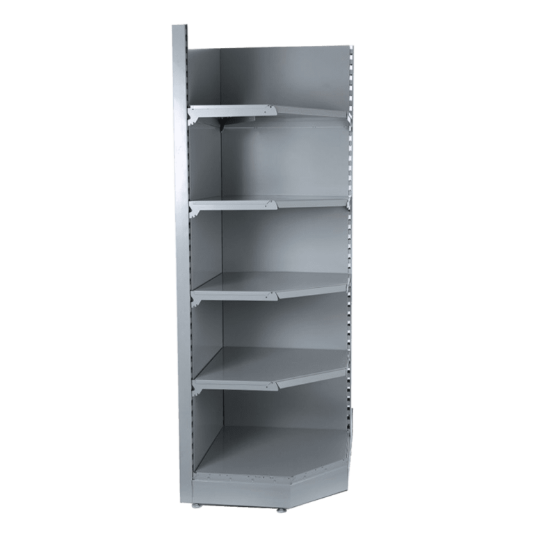 corner shelving bay grey