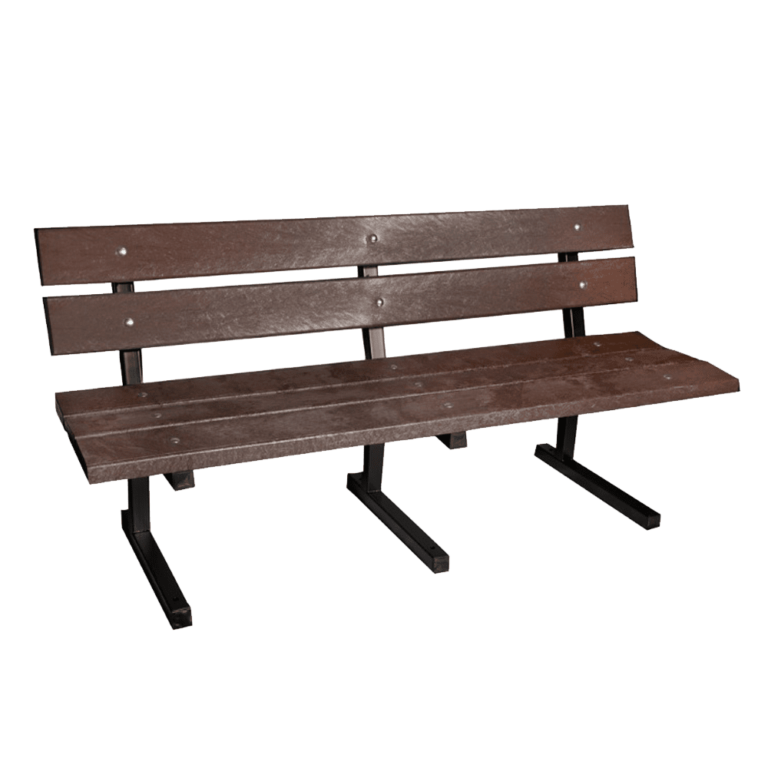 Recycled Plastic Metal Frame Bench main