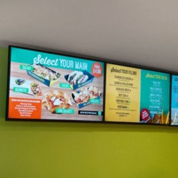 led android digital menu boards all in one network cms digital signage software advertising displays 06
