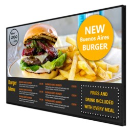 led android digital menu boards all in one network cms digital signage software advertising displays 07 1