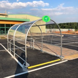 contemporary trolley shelter fitted 2
