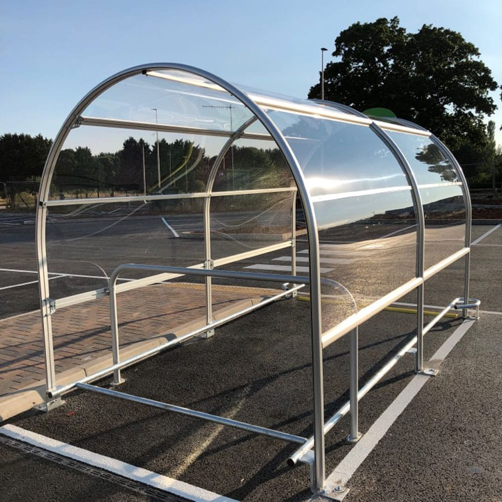 contemporary trolley shelter fitted 3