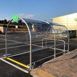 contemporary trolley shelter fitted