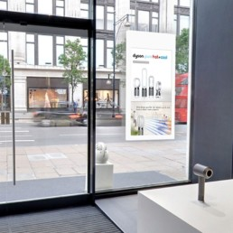 Hanging Double Sided Window Displays Application Image Dyson Inside