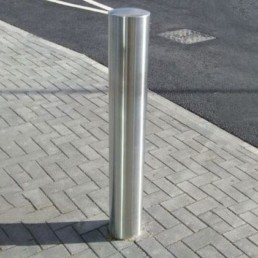 Semi Domed Top Stainless Steel Bollard 1