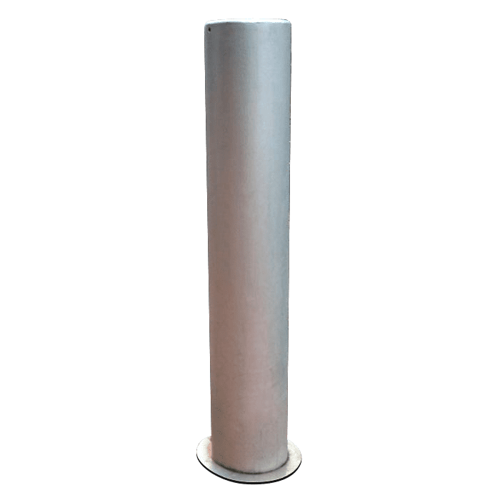 flat top steel bollard powder coated
