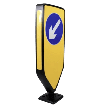 flexible keep left bollard