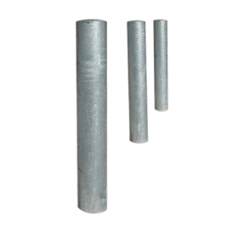 semi domed steel bollards