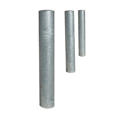 semi domed steel bollards