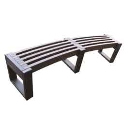 Recycled Plastic Curved Edge Bench