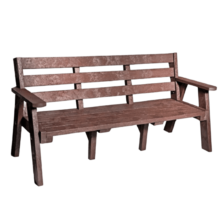 Recycled Plastic Outdoor Sloper Bench