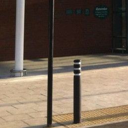 Replaceable recycled plastic bollard